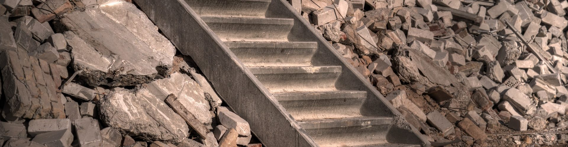 stairs within rubble
